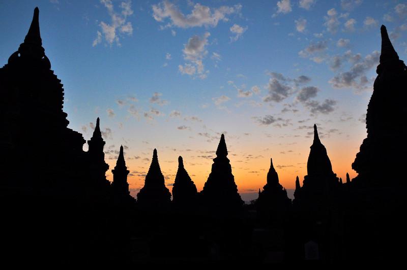 Temples of Bagan at Sunset