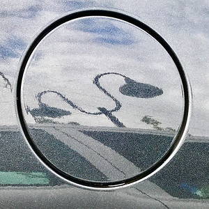 Gas Cap Cover with Lamp Post Reflection, Portland, 2020