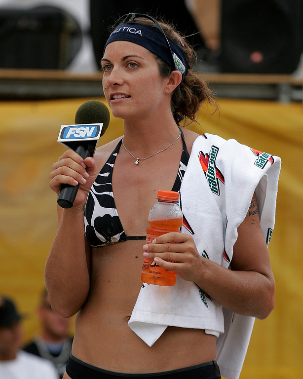 Misty May-Treanor after winning AVP event Birmingham, Alabama