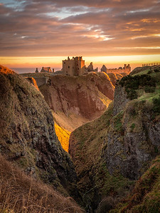 Golden Light at Dunnottar Castle