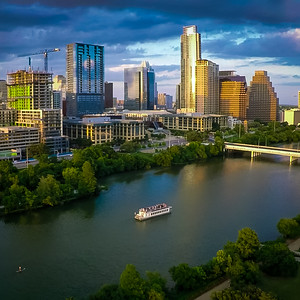 Lady Bird Lake at the Golden Hour