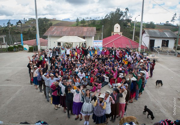 Big heart in Parroquia after a Chrismas program ll Ruizho, Ecuador (December 2016)