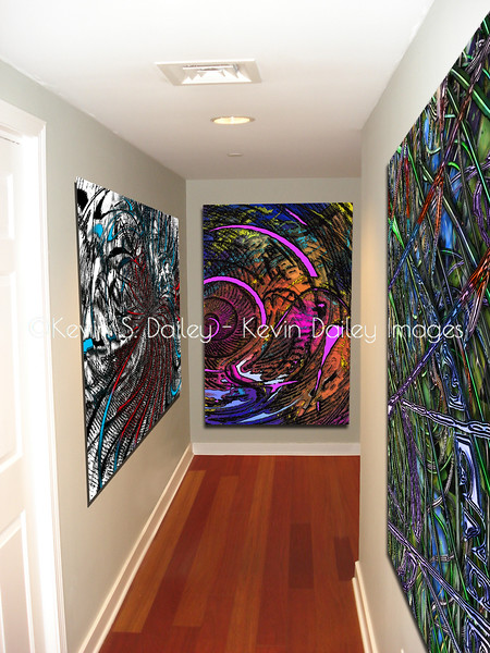 Metal prints in a gallery