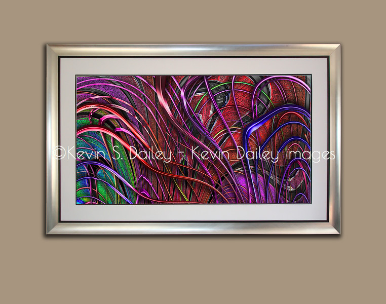 "Mounted and Framed - ""Harp in Living Color"""