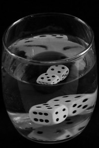 Glass of Dice Water