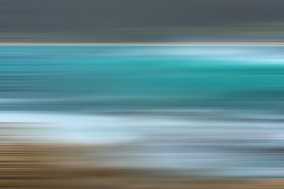Horizontal blur. Carmel River State Beach,Ca,