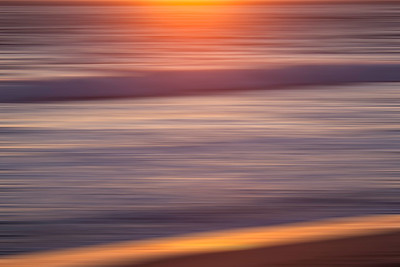 Trestles Beach. with horizontal motin blur