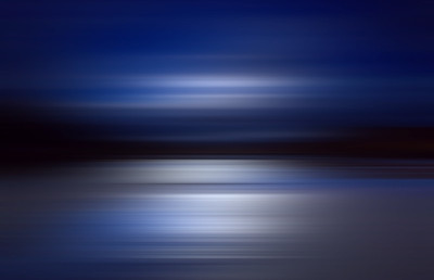 Moonlight, Motion blur, Bandon Beach