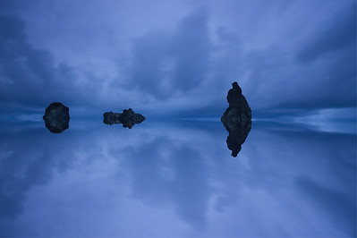 Bandon Beach Seastacks, Mirror effect