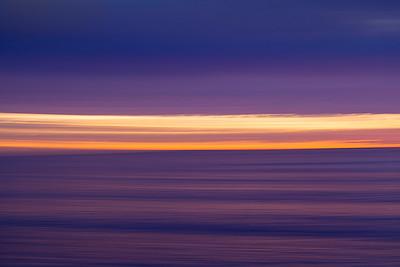 Horizontal Motion blur. Moss Point. Laguna Beach Ca.
