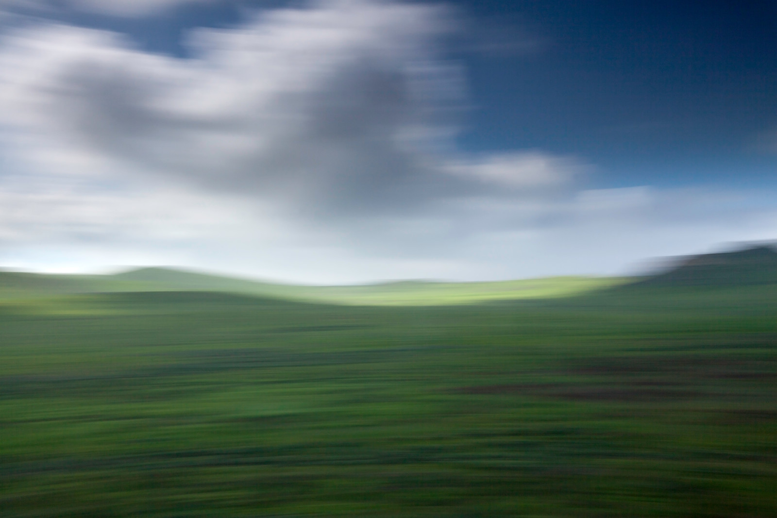 Green Hills and Clouds with motion blur, Irvine Ca.