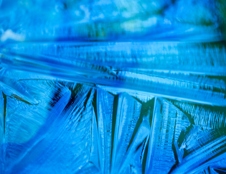 Blue Ice Abstract.