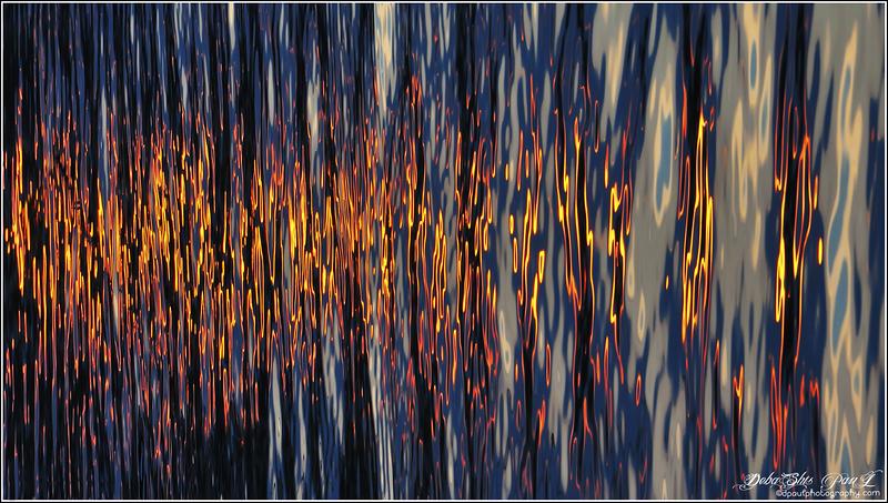 Sparkling Water in Sunset - Geneva, Switzerland