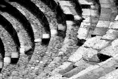 The Steps - small theatre (Odeon) in the ruins of Pompeii, Italy. May 1984. Kodachrome with a Canon F-1, 50mm f1.4.