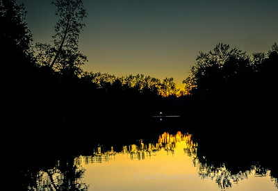 Sunset, Oxbow Lake, Wisc