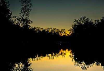 Sunset, Oxbow Lake, Wisc