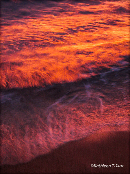 Sunset Surf Abstract #1288