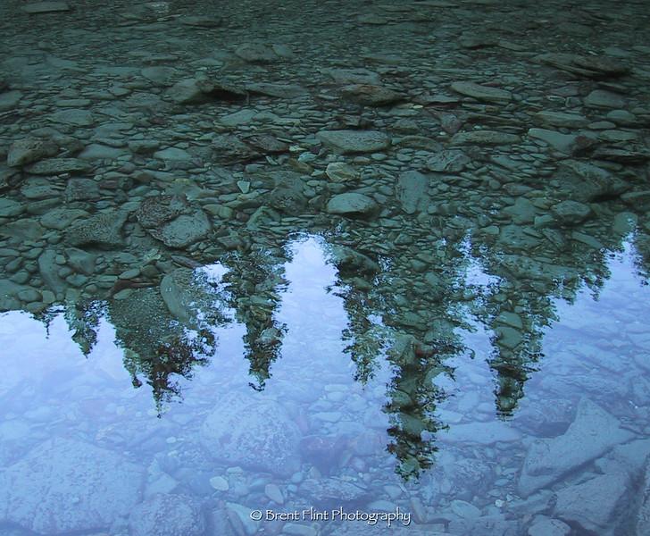 DF.6 - Reflections in McDonald Creek, Glacier Natl. Park, MT.