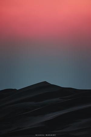 Sandstorm in a desert