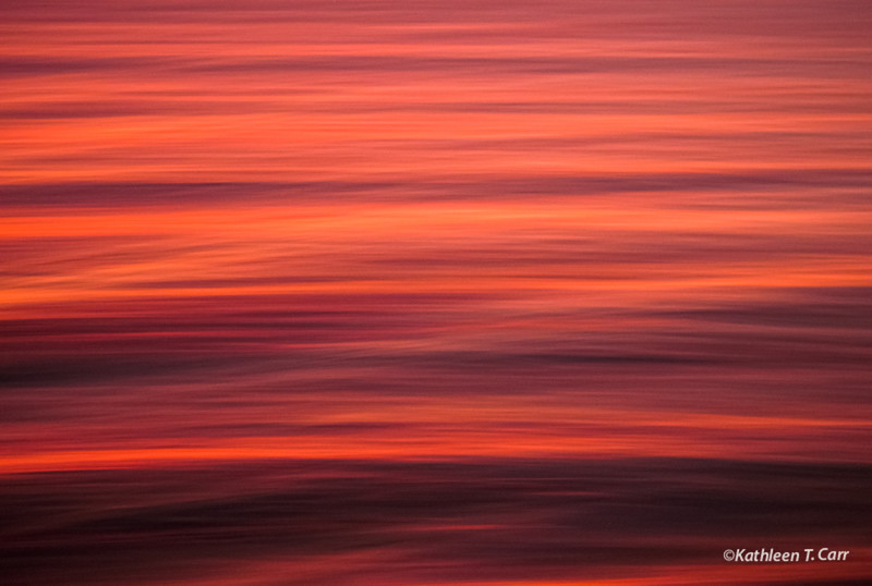 Sunset Waves Abstract