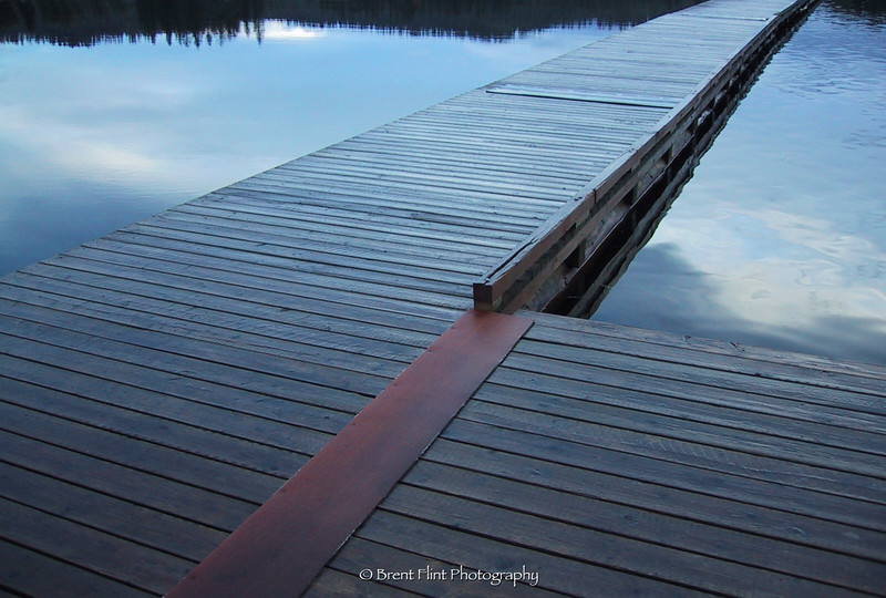 DF.27 - dock, still waters, & reflections, Hauser Lake, ID.