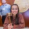 """Kelsey Wallace, a senior in UAF's rural development program from Bethel, has some fun with the gavel moments after posing with Speaker Mike Chenault in the House chambers during a weeklong seminar on understanding the legislative process in Juneau.  <div class=""""ss-paypal-button"""">Filename: AAR-14-4053-149.jpg</div><div class=""""ss-paypal-button-end"""" style=""""""""></div>"""