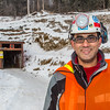 """Professor of mining engineering Rajive Ganguli poses in front of the portal at UAF's Silver Fox Mine about 15 miles north of Fairbanks.  <div class=""""ss-paypal-button"""">Filename: AAR-14-4362-017.jpg</div><div class=""""ss-paypal-button-end""""></div>"""