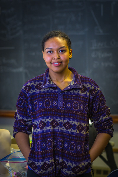 """Meranda Okoomealingok, a Native of Savonga on St. Lawrence Island, is studying to be a registered nurse at UAF's Northwest Campus in Nome.  <div class=""""ss-paypal-button"""">Filename: AAR-16-4865-312.jpg</div><div class=""""ss-paypal-button-end""""></div>"""