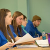 "Schoof of Management students Sophie Marcinkowski, Emily Blanchard, Emily Ahem and Brennan LaBuda take notes in their intermediate accounting class.  <div class=""ss-paypal-button"">Filename: AAR-14-4112-64.jpg</div><div class=""ss-paypal-button-end"" style=""""></div>"
