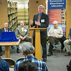 "Alaska Lt. Governor Mead Treadwell speaks to the attendees of the Michael E. Krauss Alaska Native Language Archive dedication ceremony Feb. 22, 2013, at the Rasmuson Library.  <div class=""ss-paypal-button"">Filename: AAR-13-3743-69.jpg</div><div class=""ss-paypal-button-end"" style=""""></div>"
