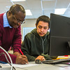 "UAF Chukchi Campus Assistant Professor of Developmental Math Kelechukwu Alu works one-on-one with a student during a morning class at the Alaska Technical Center in Kotzebue.  <div class=""ss-paypal-button"">Filename: AAR-16-4863-323.jpg</div><div class=""ss-paypal-button-end""></div>"