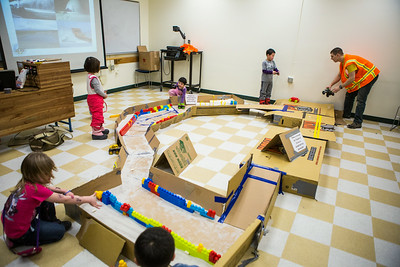 Children are given a chance to explore during the annual Eweek open house in the Duckering Building on campus.  Filename: AAR-14-4081-74.jpg