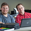 "Assistant professor Thane Magelky, right, works with freshman James Griffin in his drafting technology class in the CTC center downtown.  <div class=""ss-paypal-button"">Filename: AAR-11-3221-45.jpg</div><div class=""ss-paypal-button-end"" style=""""></div>"