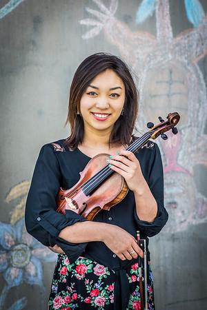 Violinist Rose Crelli is a music major at UAF.  Filename: AAR-15-4495-50.jpg