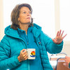 "During a brief visit to UAF's Toolik Field Station in Sept., 2013, U.S. Senator Lisa Murkowski enjoys a hot beverage in the dining hall.  <div class=""ss-paypal-button"">Filename: AAR-13-3929-410.jpg</div><div class=""ss-paypal-button-end""></div>"