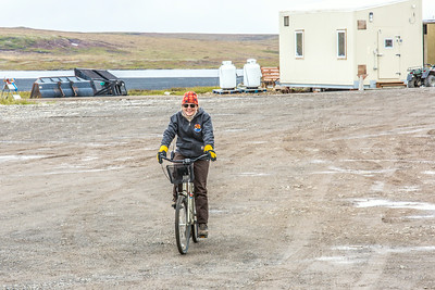 Bicycles are a common form of transportation for those spending time at the Toolik Field Station, operated by UAF's Institute of Arctic Biology about 370 miles north of Fairbanks along the Dalton Highway.  Filename: AAR-14-4216-316.jpg