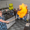 "UAF chemistry professor Cathy Cahill seems to enjoy blowing up balloons filled with hydrogen during a demonstration for her students in a Reichardt Building lab.  <div class=""ss-paypal-button"">Filename: AAR-13-4021-2.jpg</div><div class=""ss-paypal-button-end"" style=""""></div>"