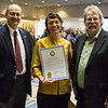 "Members of the Alaska legislature Rep. David Guttenberg and Sen. Joe Thomas present UAF Film department head Maya Salganek with a copy of the proclamation. The state voted to continue to offer economic incentives for film and television producers to shoot in Alaska. Salganek was vital in organizing a grassroots campaign that demonstrated strong support for the program.  <div class=""ss-paypal-button"">Filename: AAR-12-3558-49.jpg</div><div class=""ss-paypal-button-end""></div>"