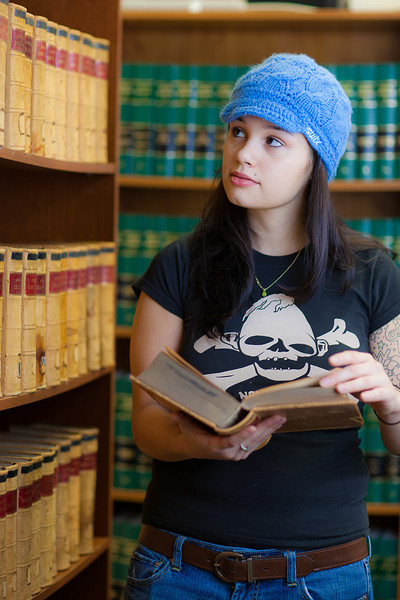 "Samantha D'Hondt conducts some research for her paralegal studies class at CTC's law library.  <div class=""ss-paypal-button"">Filename: AAR-11-3225-50.jpg</div><div class=""ss-paypal-button-end"" style=""""></div>"