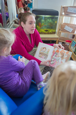 """Heather Pearce works with pre-schoolers at the Bunnell House on the UAF campus as part of her internship for a degree in early childhood development.  <div class=""""ss-paypal-button"""">Filename: AAR-12-3335-042.jpg</div><div class=""""ss-paypal-button-end"""" style=""""""""></div>"""