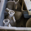 "Old beakers and other supplies collect dust on a work bench in the Mineral Industry Research Lab (MIRL) facility in the barn at the UAF Agricultural and Forestry Experiment Station.  <div class=""ss-paypal-button"">Filename: AAR-12-3549-022.jpg</div><div class=""ss-paypal-button-end"" style=""""></div>"