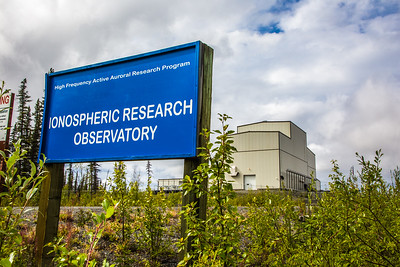 The High Frequency Active Auroral Research Program (HAARP) facility near Gakona comprises a 40-acre grid of towers to  conduct research of the ionosphere. The facility was built and operated by the U.S. Air Force until Aug. 11, 2015, when ownership was transferred to UAF's Geophysical Institute.  Filename: AAR-15-4600-389.jpg