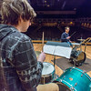 "Percussionist Sean Dowgray works with Professor Morris Palter during class, MUS F606 - Advanced Chamber Music - Percussion, in the Davis Concert Hall.  <div class=""ss-paypal-button"">Filename: AAR-14-4094-19.jpg</div><div class=""ss-paypal-button-end""></div>"