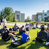 """Rural Alaska Honors Institute students study for their Introduction to College Writing course in Cornerstone Plaza on Friday, June 8.  <div class=""""ss-paypal-button"""">Filename: AAR-18-5817-16.jpg</div><div class=""""ss-paypal-button-end""""></div>"""