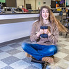 """Physics major Haley Nelson takes a spin after class in a Reichardt Building lab.  <div class=""""ss-paypal-button"""">Filename: AAR-13-4009-185.jpg</div><div class=""""ss-paypal-button-end"""" style=""""""""></div>"""