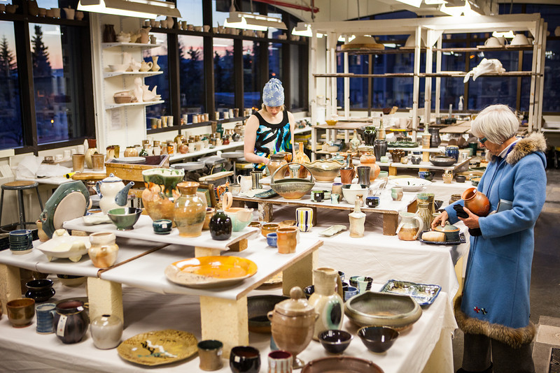 """Student potters' works of art were on sale for the public during the 2012 Student Artist Ceramics Sale on December.  <div class=""""ss-paypal-button"""">Filename: AAR-12-3683-6.jpg</div><div class=""""ss-paypal-button-end"""" style=""""""""></div>"""
