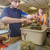 "Engineering majors Cody Klingman, front, and Logan Little measure dust samples in a Duckering building lab.  <div class=""ss-paypal-button"">Filename: AAR-13-3812-70.jpg</div><div class=""ss-paypal-button-end"" style=""""></div>"