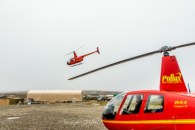Helicopters provide access to many remote research sites from the Toolik Field Station, about 370 miles north of Fairbanks on Alaska's North Slope.  Filename: AAR-14-4216-267.jpg