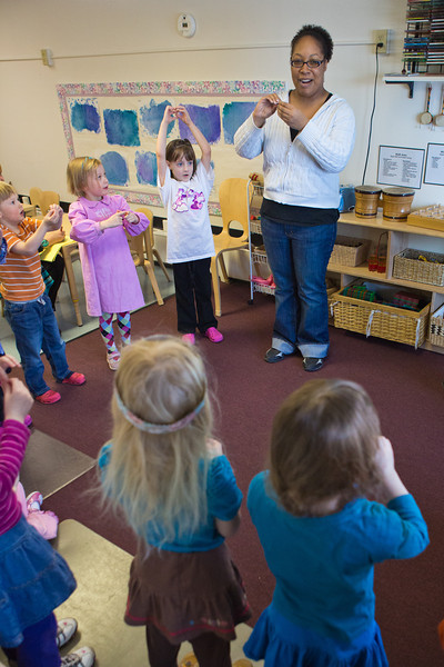 """Kewanna Ellis works with pre-schoolers at the Bunnell House on the UAF campus as part of her internship for a degree in early childhood development.  <div class=""""ss-paypal-button"""">Filename: AAR-12-3335-104.jpg</div><div class=""""ss-paypal-button-end"""" style=""""""""></div>"""