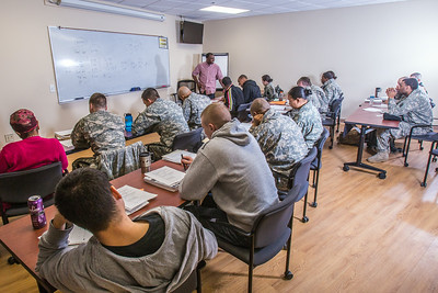 Soldiers stationed at Fort Wainwright have access to college classes through the Education Center on base.  Filename: AAR-14-4135-2.jpg